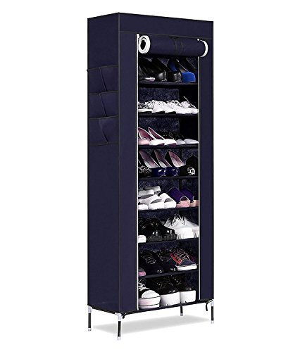 Kurtzy Shoe Rack Standing Tower Storage Organizer Closet Cabinet 9 Tier 60x30x160cm