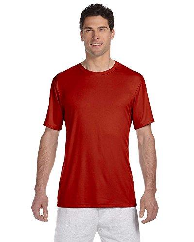 Hanes HanesApparel Men's Cool Dri UPF 50 Moisture Wicking T-Shirt, Deep Red, Small (Cool-dri Wick)