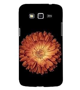 FUSON Orange Lotus Black Background 3D Hard Polycarbonate Designer Back Case Cover for Samsung Galaxy Grand 2 :: Samsung Galaxy Grand 2 G7105 :: Samsung Galaxy Grand 2 G7102 :: Samsung Galaxy Grand Ii