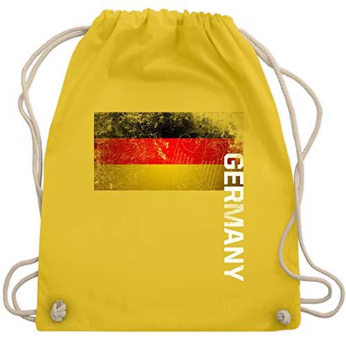 Fußball-Europameisterschaft 2020 - Deutschland Flagge Adler Vintage Germany - Unisize - Gelb - WM110 - Turnbeutel & Gym Bag