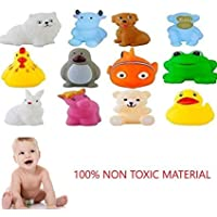 SHUANGYOU Cute Soft Rubber Float Squeeze Sound Baby Bath Play Chuchu Animals Toys