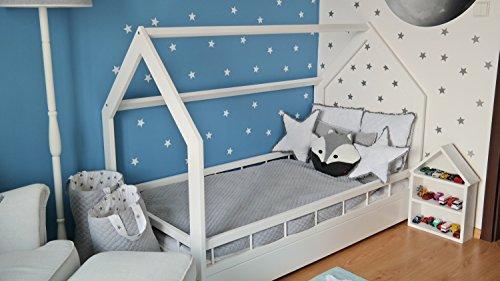 Kinderbett Hausbett Spielbett Abenteuerbett Einzelbett mit Absturzsicherung