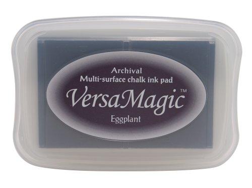 Tsukineko VG63 Versamagic ink Pads Kreide-Stempelkissen, Aubergine, Synthetic Material, lila, 9.9 x 6.6 x 1.8 cm -
