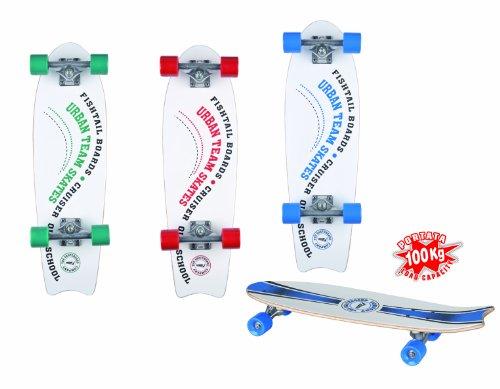 Sport One Skate Skateboard Fishtail, Fishtail, blu