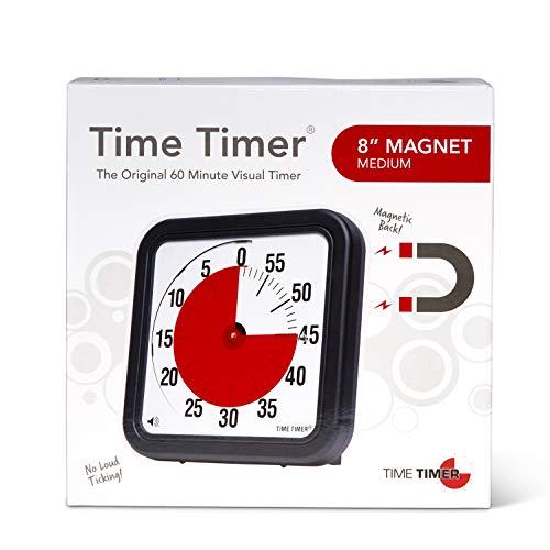 Time Timer magnetischer 60 Minuten Timer mit optischem Signal, Countdown-Uhr für Kinder und Erwachsene, für das Klassenzimmer oder Besprechungsräume (Medium - 18 cm)