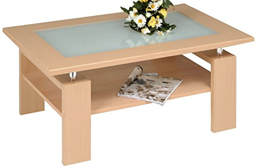 Alfa-Tische Table Basse Hêtre, Naturel, 100/44 / 65 cm
