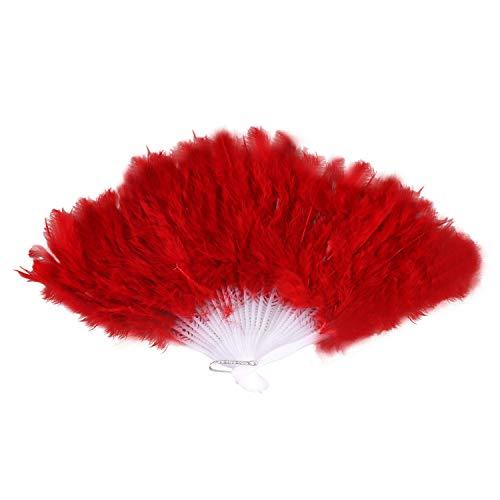 Globalflashdeal Damen Federfaecher 1922er Moulin Rouge Burlesque Kostuem Zubehoer - rot (Moulin Rouge Tanz Kostüm)