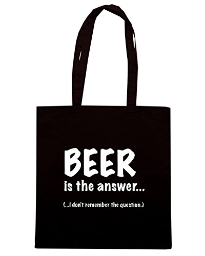 T-Shirtshock - Borsa Shopping BEER0038 Beer Is The Answer Nero