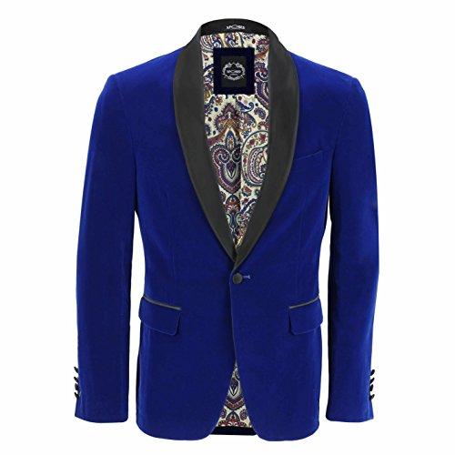 Xpose - Pantalón de chaleco para hombre, de terciopelo azul, vintage, 3 piezas, se vende por separado Azul Blazer-Tux-Royal Blue Chest UK 40 EU 50