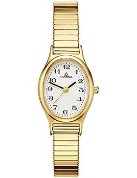 Dugena Damen-Armbanduhr Comfort Line Analog Quarz Edelstahl beschichtet 4168003