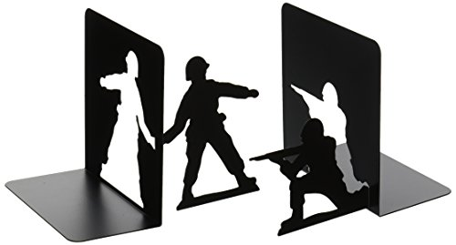 Image of Mustard Mustard Metal Bookends - Black Action Man Book Ends