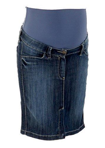 Christoff Schwangerschaftsrock Umstandsrock Jeans-Rock Berlin - trendy leger - hoher Bund - A-Form - 290/19/80 - denim blau - Gr. 46