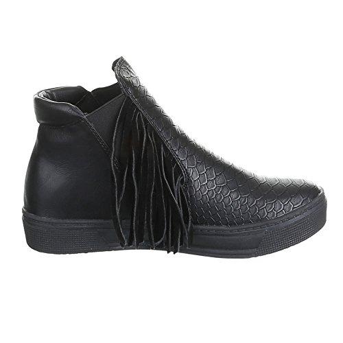 Femme f115 à chaussures de loisir Noir - Noir