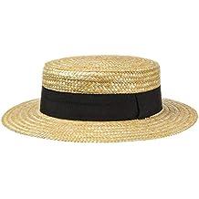 46d2775a097ed Lipodo Sombrero de Paja Canotier Mujer Hombre