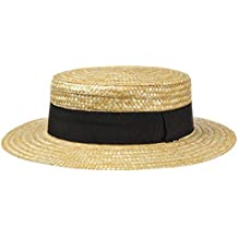 e95afc0780dbd Lipodo Sombrero de Paja Canotier Mujer Hombre