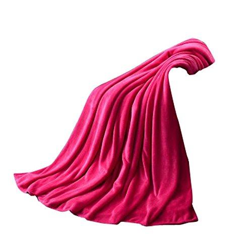 Rameng Decke für Sofa und Bett, Flanell, weich, 50 x 70 cm. Rose Vif -