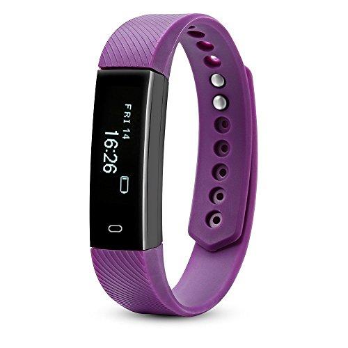 onehomestore Activity Tracker Smart Armband mit Remote-Kamera für Sport, violett