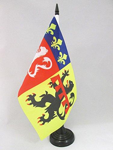 TISCHFLAGGE DÉPARTEMENT RHÔNE 21x14cm - RHÔNE TISCHFAHNE 14 x 21 cm - flaggen AZ FLAG