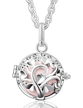 Eudora Harmony Ball Baum der Liebe Anhänger mit Kette Halskette für Schwangerschafts Parfum Käfig