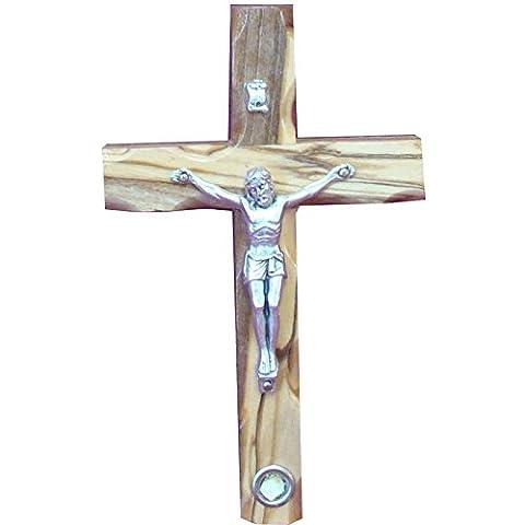 12cm Catholic Cross Crucifix With Holy Land Stone For Wall