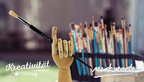 MONT MARTE Gliederhand – Modellhand aus Holz – linke Hand – 25,4 cm – Flexible Holzhand, ideal als Model zum Zeichnen - 8