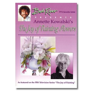 "Bob Ross - Libro ""The Joy of painting Flowers"", dipingere i fiori, di Annette Kowalski [lingua inglese]"
