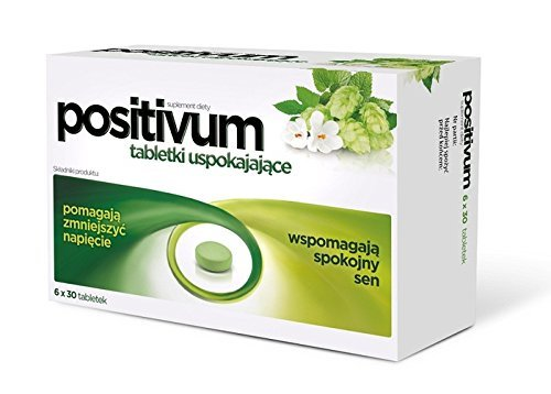 POSITIVUM - 180 tablets - calming the body's natural support in case of nervous tension or irritability - by Aflofarm -