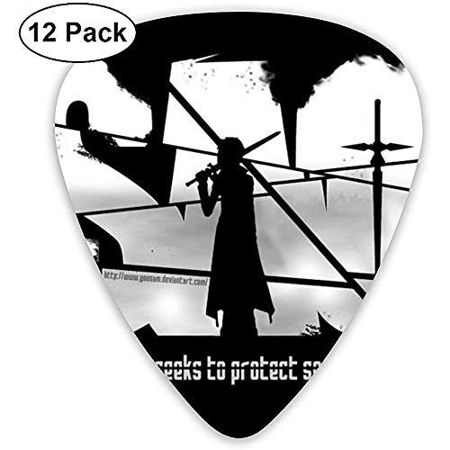 Paquete de 12 púas de guitarra clásica Sword Art Online para guitarra...