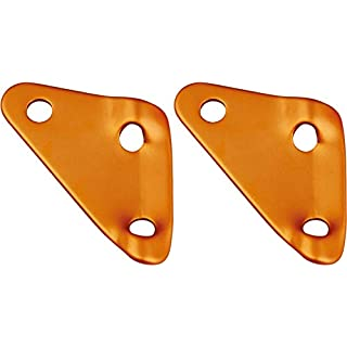 AceCamp 2 x Dreilochspanner, Zeltleinenspanner, Zeltzubehör, Alu-Spanner, Seilspanner, 20 Stück, Doppelpack Orange, 91179