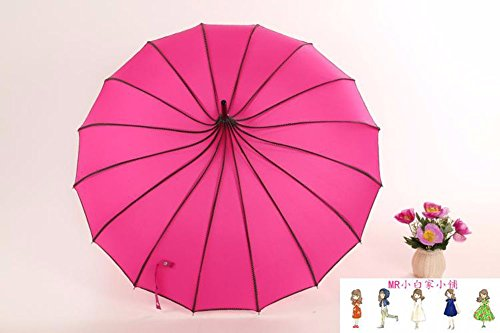 zjm-retro-palace-pure-color-long-uv-protection-umbrella-wind-princess-pagoda-umbrella-umbrella-creat