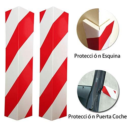 LETACAR Protector Paragolpes Coche, 40 * 15 cm Protector Columnas Garaje, Protección para Parachoques de Coche para Garaje Jardin Patio - 2 Piezas