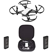 DJI Tello Combo Camera Drone 5 MP - 1 Extra Battery + 1 Tello Drone + 1 Carry Case