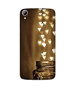Mason Jar Stars Printed Back Cover Case For HTC Desire 828
