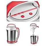 Edelstahl Küchenmaschine mit Kochfunktion Starke 1000 Watt Suppenzubereiter Suppenbereiter...