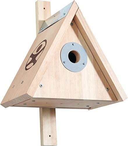 HABA 304544 - Terra Kids Nistkasten - Bausatz, Bausatz und Anleitung zum Selber bauen eines Nistkastens für Kinder (28,5 x 40 x 28,5 cm), zum Beobachten von Vögeln