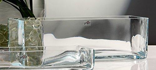 Glasvase Rectangular klar eckig 12 cm Ø 40,0 x 12,0 cm von Sandra Rich