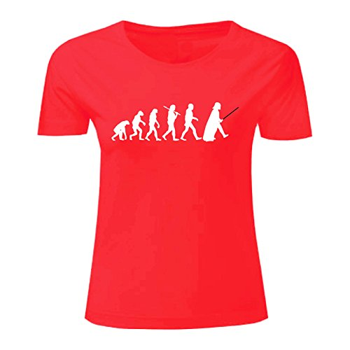 Art T-shirt, Maglietta Evolution of Force, Donna Rosso