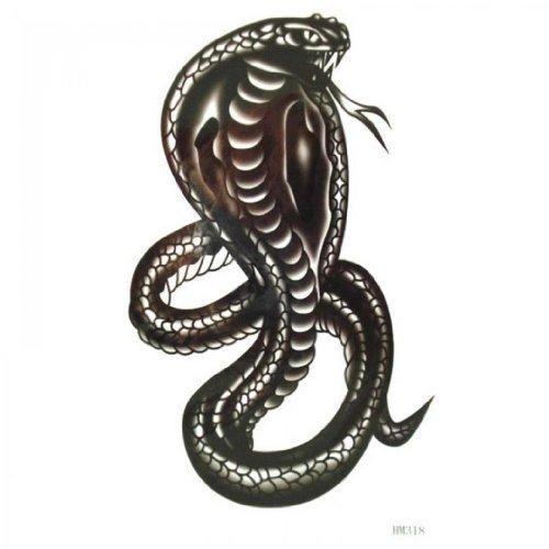 Tatouage temporaire non - toxique imperméable SPESTYLE stickersWaterproof et la sueur de cobra noir tatouages temporaires modèle pour les hommes