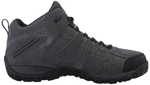 Columbia Herren Redmond Mid Leather Omni-Tech Trekking-& Wanderhalbschuhe Grau (Dark Grey/Madder Brown 089)