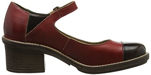 Fly London P143877003, Scarpe Mary Jane Donna Rosso (red/brown 003)