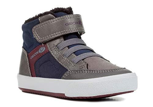 Bild von Geox J845CB Gisli Modischer Jungen Sneaker, Skater Schuh, Klettverschluss, Gummizug, Schlupfschuh, Warm gefüttert, Atmungsaktiv