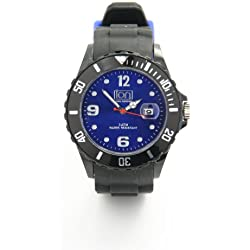 ION BODY ARMOUR BLACK EDITION UNISEX SILICONE ION WATCH - INDIGO BLUE FACE