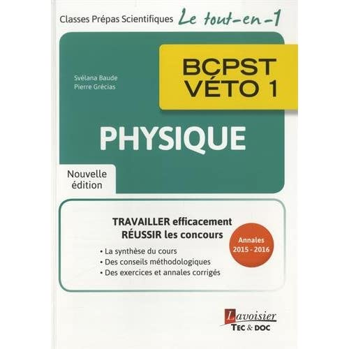 Physique BCPST-véto 1e année