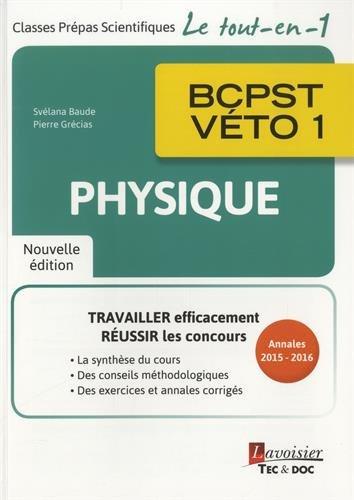 Physique BCPST-vto 1e anne