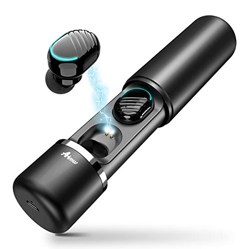 Bluetooth Kopfhörer in Ear, Aimus True Wireless V5.0 Kopfhörer Headphones TWS Multi-Funktion Touch Steuerung Sport Ohrhörer(Schwarz)