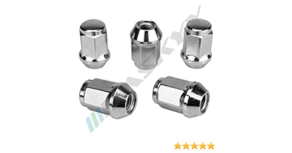 5x34 SW19 Conique C/ône 60/° Aluminium Acier Jantes 16 Noir /Écrou de Roue M/ère M12x1