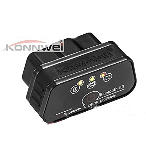 Sistema di ISO dell'automobile KONNWEI KW901 Bluetooth 4.0 supporta Apple ELM327 Bluetooth OBD2 scanner diagnostico , Black