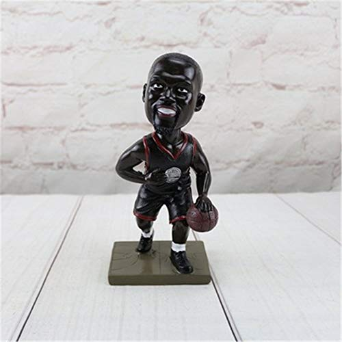 Mrncw Creative Basketball Star NBA Star Kobe Curry James Character Decoration Resin Crafts Desktop Display (St Halloween James)