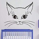 XCSJX Modèles Populaires Grande Taille Avatar Chat créatif décoration Maison Art Stickers muraux 58x71cm...