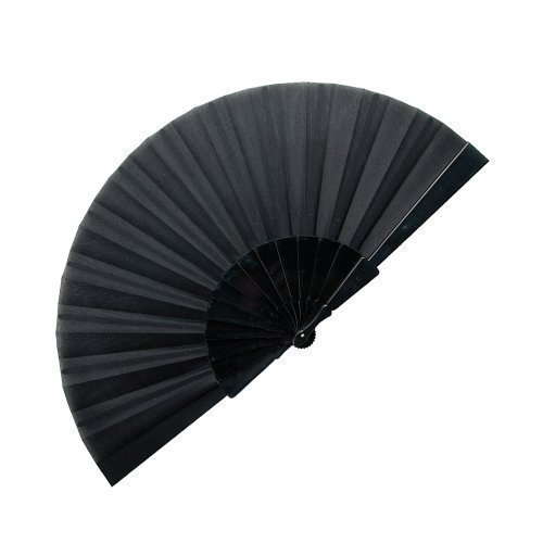 eBuyGB Handheld Pretty Fan Summer Wedding Accessory and Favour, Black
